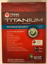 TREND MICRO TITANIUM INTERNET SECURITY & ANTIVIRUS 2012 - 3 PCs (3 PCs, 1 MAC