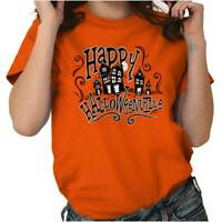 Halloween Halloweenville Haunted Trick Treat Ghost T Shirt Tee for Women Men