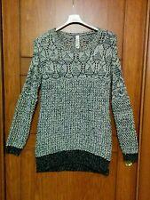 Maglia maglione pesante caldo mini abito traforato bicolore Pull&Bear taglia S