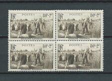 FRANCE MOISSON - 1940 YT 466 bloc de 4 - TIMBRES NEUFS** LUXE - COTE 18,00 €