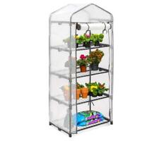 Litgrow 4-Tier Mini Greenhouse, 69cm Long x 49cm Wide x 158cm High PE White