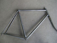 New NOS 58.5cm Tange #2 double butted CroMoly road bicycle lugged frame & fork
