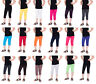 Children Cropped Cotton Leggings 3/4 Length, Basic Plain Capri Pants Age 3-12
