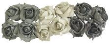24 Foamrosen Schaumrosen Taupe Mix Kunstrosen Rosenköpfe Tischdeko Hochzeit Rose