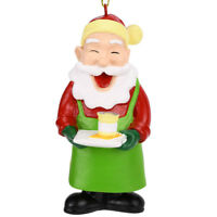 Tree Buddees Barista Santa Christmas Tree Coffee Ornament Funny Xmas Starbucks
