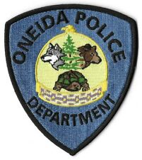 Oneida Wisconsin Wi Police patch Wolf Bear Turtle Eagle Indian tribal