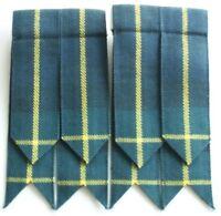 Men's Kilt Flashes Hose Gordon Modern Tartan Elastic and Velcro to fit all sizes
