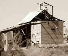 Ghost Town Vulture Mine Ore Processing Building Ruin Sepia Toned