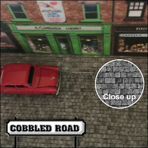 Old Cobbled Road 00 Gauge Model Railway or Crafter Self Adhesive paper.