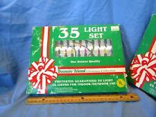 Vintage NOS Christmas light sets 35 indoor/outdoor Treasure Island Stores '60's