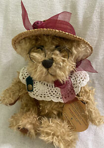 Handcrafted Brass Button Bears Rosie Bear of Joy - 1997 - Legendary Collection