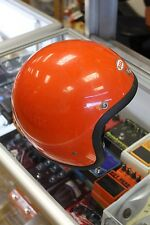 RARE ORANGE BELL SUPER MAGNUM 6 7/8 MOTORCYCLE VINTAGE MOTO STAR III 3 HELMET
