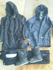 Boys Black Trespass Outfit Bundle Aged 5-6 yrs. 2xJackets, Salopettes, Boots