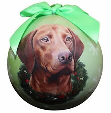 """Viszla Christmas Ornament"" Shatter Proof Ball Easy To Personalize"