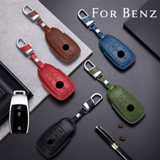 Real Leather Smart Remote Key Case Cover For Mercedes-Benz A B C E S G-Class (Fits: Mercedes-Benz)