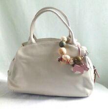 Ladies Radley White Leather Hand Bag - W 30 cm, H 19 cm