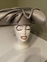 Beautiful Vintage Dark Silver Deborah Of N Y Church Dress Hat