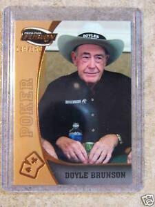 2009 Press Pass Fusion DOYLE BRUNSON Bronze /150