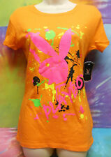 Playboy Fallen Paint Drop Junior Women T-shirt Size X-Small