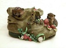 More details for innovation bramble & clover hedgehogs in old boot ornament
