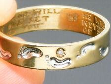 9ct Gold Footprints Diamond Ring 'When you saw one set of Footprints ....'