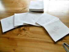 10 Serviettes en lin avec monogramme JC