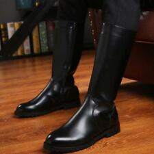 Men's Boots German Army Military Officer Thigh Flats Shoes Fashion Combat Shoes