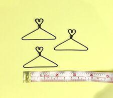 """12X  Mini Wire Coat Hangers  2"""" (Heart on Top)"""
