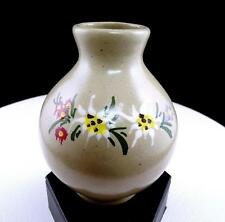 "MARKE GES GESCH STOOB AUSTRIAN POTTERY HAND PAINTED FLORAL 4 1/2"" VASE"