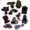 50Pcs/Set Neon Sign Stickers Bomb Decals to Laptop Guitar Car Luggage Skateboard