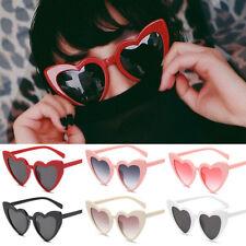 NEW Women Fashion Lolita Heart Shaped Sunglasses Shades Vintage Eyeglasses 2019