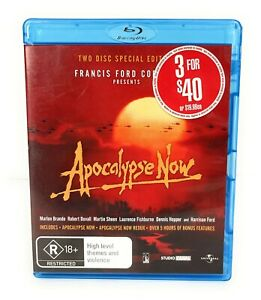 Apocalypse Now Special Edition 2-Disc Set (Blu Ray, 1979) Marlon Brando Region B