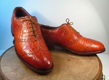 Calcaterra Exotic Leather Wingtip Fine Golf Shoes Size 12 D