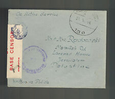 1944 England Polish SOldier Mail Rare Censored Cover to Palestine