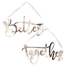 Stuhlschilder Hochzeit Better Together   Rosé-gold Stuhldekoration Brautpaar