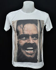 White crew t-shirt the shining Jack Nicholson punk rock cotton CL tee size S