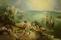 Pieter Bruegel The Elder The Fall of Icarus Giclee Paper Print Poster