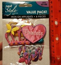 Iron-on applique patches princess crowns & castle