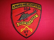 """US 334th Armed Helicopter Company UTT """"FIRST WITH GUNS"""" Vietnam War Patch"""