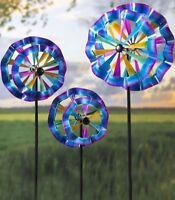Metal Rainbow Kinetic Wind Spinner Yard Art , Small , Medium or Large , YOU PICK