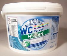 HiGloss WC Zauberpulver 2,5 KG Intensiv Schaum bis unter den Rand  KALTAKTIV