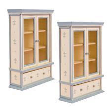 2Stk. 1/12 Puppenhaus Möbel, Mini Holzschrank Bücherregal Modell, Puppenstube