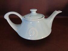 "Vintage Pastel Blue Ceramic Teapot Music Box ""Tea For Two"" (Cat.#10A018)"