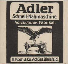 BIELEFELD, Werbung 1910, H. Koch & Co.  AG, Adler Schnell-Näh-Maschine