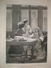 WARDS in Cancelleria da John Morgan 1880 Old print