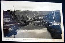 SPAIN~ESPAGNE~1947 BILBAO ~La Ria desde el Puente dei Arenal ~Real Photo PC RPPC