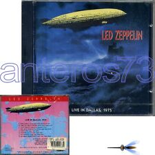"LED ZEPPELIN ROBERT PLANT ""LIVE IN DALLAS"" RARE CD ITALY 1990 - SEALED"