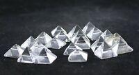 SIX 6mm To 6.5mm Square Quartz Crystal Pyramid Cabochon Gemstone VERY OLD STOCK