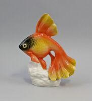 9941275 Porzellan Figur Schleierschwanz Fisch Ens H16cm