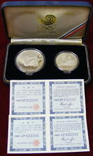 1988 Korea Olympic 2 Piece Sterling Silver Coin Proof Set – Diving & Tug Of War